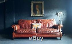 162 Chesterfield vintage 2 Seater Leather Club Corner suite courier av
