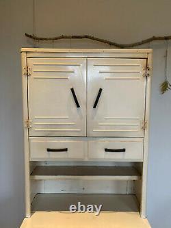 1930s vintage cream enamel retro kitchen unit