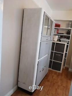 1950s 1960s Original Kitchen Larder Unit Refurbished Grey White Retro Vintage