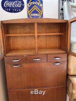1950s Original Vintage Wooden Retro Kitchen Larder Cupboard Cabinet