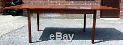 1960s vintage Danish teak extending kitchen dining table attrib. Sigurd Hansen