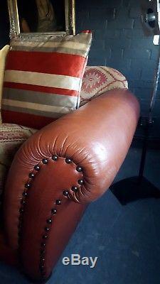 2110. Superb Tetrad Eastwood Grande 3 Seater Sofa Vintage Chesterfield Courier av