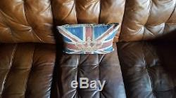 211 Chesterfield Leather vintage & distressed 3 Seater Sofa tan brown Courier av
