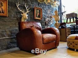 2562b chesterfield brown vintage Barker & Stonehouse leather armchair pair AV