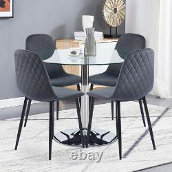 2 4 6 8 Velvet Dining Chairs Retro Padded Seat Metal Legs Accent Chair Kitchen