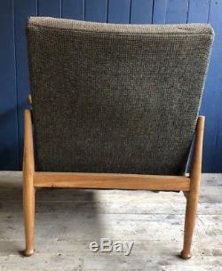 2 Harris Tweed Mid Century Guy Rogers Manhattan Armchairs Retro DELIVERY