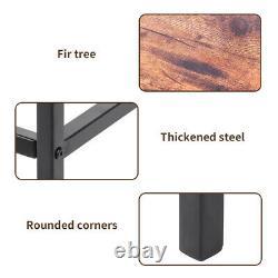 2x Vintage Industrial Bar Stools Chair Retro Kitchen Countertop Wood Seat Metal