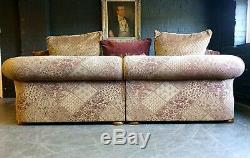 3007. Cleveland Tetrad Vintage 4 Seater Leather Sofa & Chair RRP £6495.00