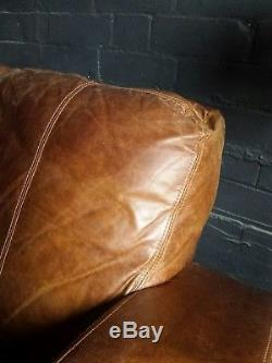 30 Chesterfield vintage 3 seater leather tan brown corner suite courier av