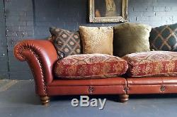 358 Chesterfield Vintage Tetrad 3 Seater Club leather Suite courier av