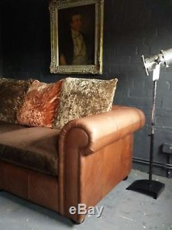 38 Chesterfield Vintage Tetrad 3 Seater Club leather Corner suite courier av