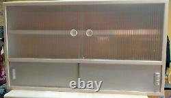 3 X 1950s 60s Kitchen Wall Units Wooden Glass Mid Century Vintage