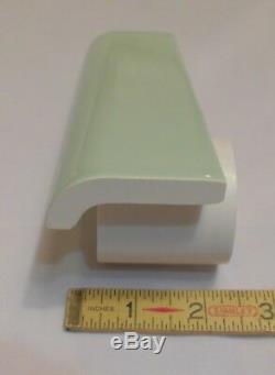 42 pcs. Vintage Apple Green Ceramic Mudd Bullnose Tiles by Robertson Co. NOS