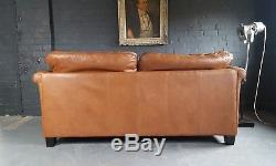 453 Chesterfield Tan Vintage 2 Seater Brown Leather Club courier av