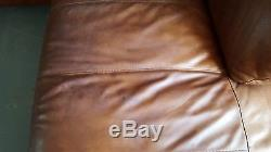 471 Chesterfield vintage 3 seater leather Club brown Corner suite courier av
