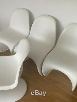 4 GENUINE VERNER PANTON CHAIRS FOR VITRA retro Danish kitchen dining designer