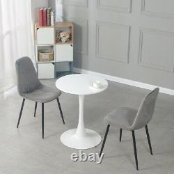 4 PCS Dining Chairs Velvet Padded Seat Metal Legs Kitchen Lounge Home Furniture