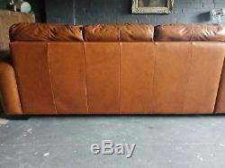 54 Chesterfield Vintage 3 Seater leather sofa Tan Club Corner suite courier av