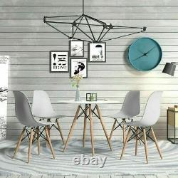 5 Piece Modern Dining Table Set and 4 Retro Chairs Dinning Kitchen Living Room