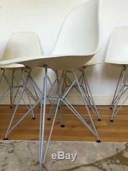 6 GENUINE CHARLES EAMES DSR CHAIRS FOR VITRA retro vintage kitchen dining