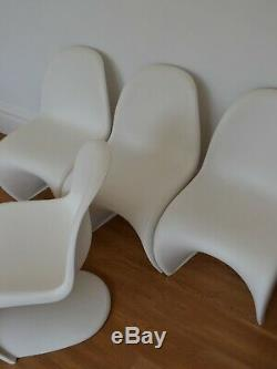 6 GENUINE VERNER PANTON CHAIRS FOR VITRA retro Danish kitchen dining designer