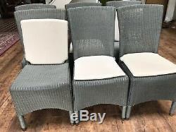 6x Neptune Havana Lloyd Loom Rattan Style Kitchen Dining Room Chairs Swansea