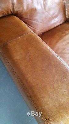 901 Chesterfield vintage 3 seater leather tan Club brown Corner suite courier av