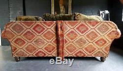909. Tetrad Vintage Chesterfield 3 Seater Leather Sofa Club Courier available