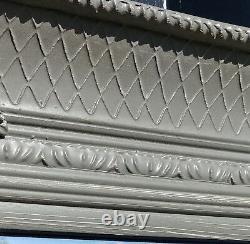 Abbey Distressed Vinatge Grey Large Wall Leaner Mirror 31x65 165cm x 79cm