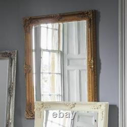 Abbey Large Vintage Gold Rectangle Ornate Wall Mirror 31x43 (110cm x 79cm)