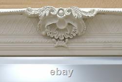 Abbey Vinatge Cream Large Shabby Chic Wall Leaner Mirror 165cm x 79cm