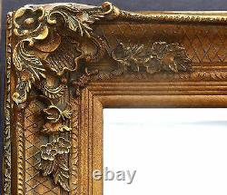 Abbey Vinatge Gold Large Shabby Chic Wall Leaner Mirror 65 x 31 or 165x79cm