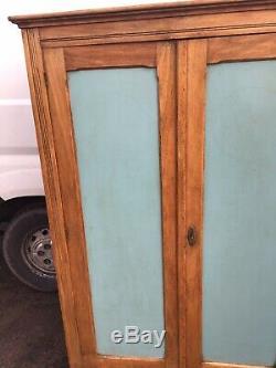Antique Vintage Fruit Wood 2Door Kitchen Larder /Storage/ Cabinet/ Cupboard