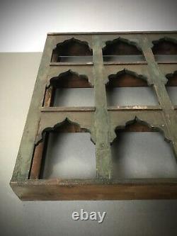 Antique Vintage Indian Furniture. Large Display/shelving Unit. Khaki Green