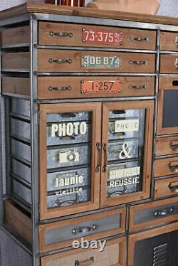 Apothekerkommode Retro Closet Cabinet Industrial Apothecary Wooden Dresser Loft