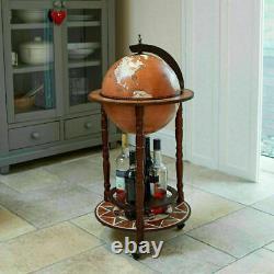 Areeva Small Globe Shaped Drinks Cabinet Mini Bar Trolley Vintage Retro Alcohol
