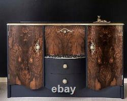 Art Deco/Vintage/Retro/Drinks/Cocktail Cabinet/Bar/Blue/Wood/Upcycled/ elegant
