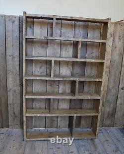 BOOKCASE library reclaimed wood industrial rustic vintage UK shelves storage