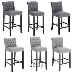 Bar Stools Set of 2 Bar Chairs Grey High Stools Breakfast Kitchen Chairs u204
