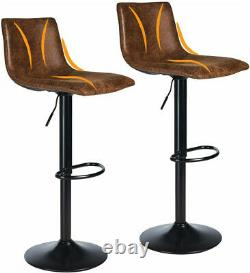 Bar Stools x2 Leather PU Breakfast Bar Chair Kitchen Stools Dining Chair