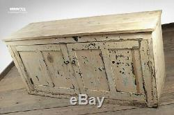 Beautiful Old Vintage Aged Two Door Painted Wood Sideboard Kitchen Hall Storage