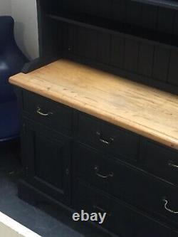 Beautiful Vintage Painted Pine Welsh Kitchen Dresser Storage