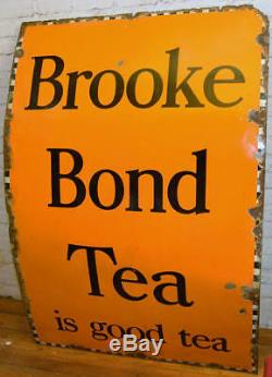 Brooke Bond Tea 1940s advertising enamel sign garage kitchen vintage retro antiq