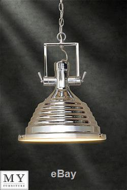 Bruno- Large retro industrial factory pendant light kitchen restaurant 35cm