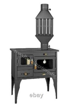 Cooking Wood Burning Stove Oven Cast Iron Top Prity 1P34L 10kw. / Heat Exchanger