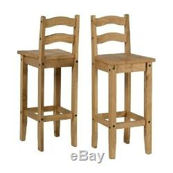 Counter Height Stools Bar 2 Chairs Kitchen Farmhouse Set Pair Wooden Vintage