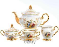 Czech Porcelain Tea Set, Madonna, 15 pc New