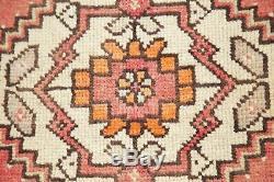 DEAL OF 2 Vintage Turkish Oushak Oriental Rug Hand-Knotted Kitchen Carpet 2'x3