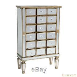 DUSX Vintage Venezia Antique Silver Wooden Cabinet