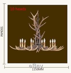 Deer Antler Chandelier Vintage Horn Resin 4 Light Rustic Ceiling pendant light